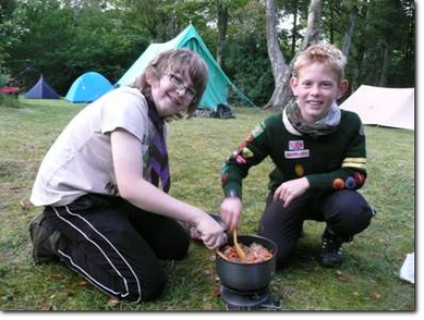 Scouts cooking