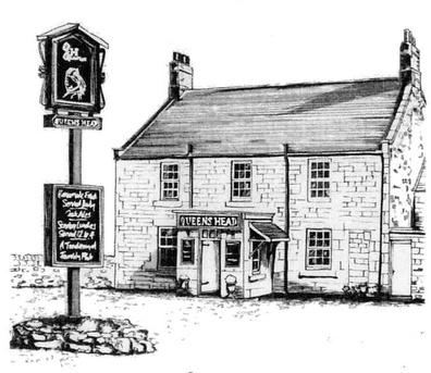 queens head pub glanton village community website. Black Bedroom Furniture Sets. Home Design Ideas